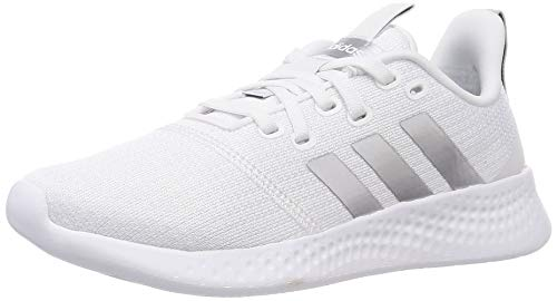 adidas Damen Puremotion Sneaker, Ftwbla/Plamet/Gridos, 39 1/3 EU