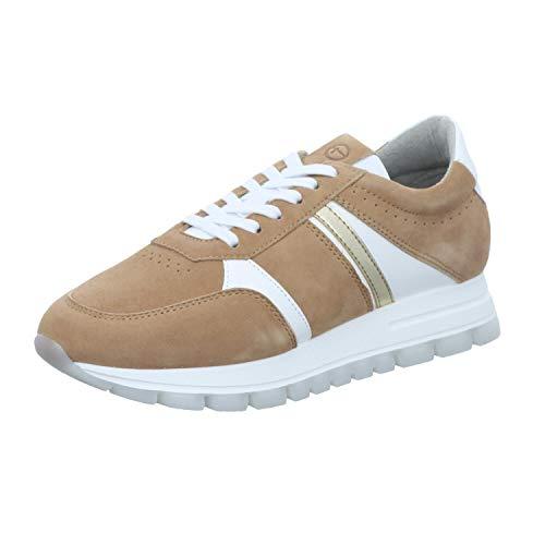 Tamaris Damen 1-1-23778-26 Sneaker, Sneaker, nature comb, 37 EU