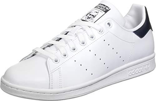 adidas Womens Stan Smith Sneaker, Weiß (Footwear White/Footwear White/Collegiate Navy 0), 38 EU