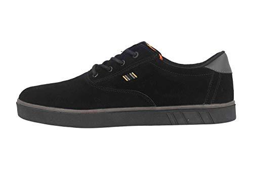 Boras SP Sports Sneaker Suede Sneaker in Übergrößen Schwarz 5208-1549 große Herrenschuhe, Größe:53