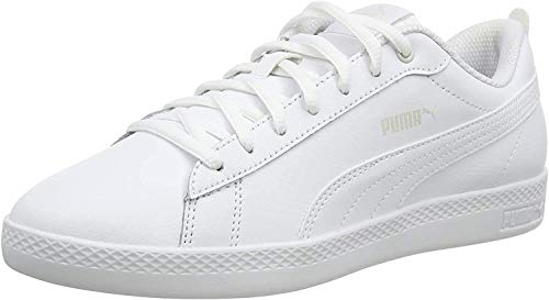 PUMA Damen Smash WNS V2 L Sneaker, White White, 39 EU