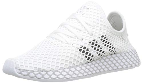 Adidas Unisex-Erwachsene Deerupt Runner J Fitnessschuhe, Weiß(ftwr white/core black/GREY TWO F17), 38 2/3 EU(5.5 UK)