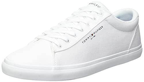 Tommy Hilfiger Herren ESSENTIAL CORE TEXTILE VULC Sneaker, Weiß, 44 EU