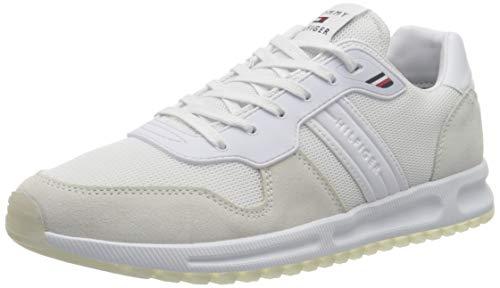Tommy Hilfiger Herren MODERN Corporate Mix Runner Sneaker, weiß, 43 EU