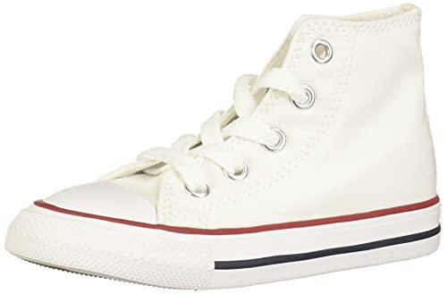Converse Unisex-Kinder Chuck Taylor All Star Classic Colors für Kleinkinder und Jugendliche Sneaker, Weiß-Blanc, Rouge et bleu, 28.5