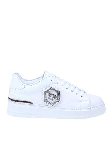 Philipp Plein Luxury Fashion Damen WSC1687PLE075N01 Weiss Leder Sneakers | Herbst Winter 20