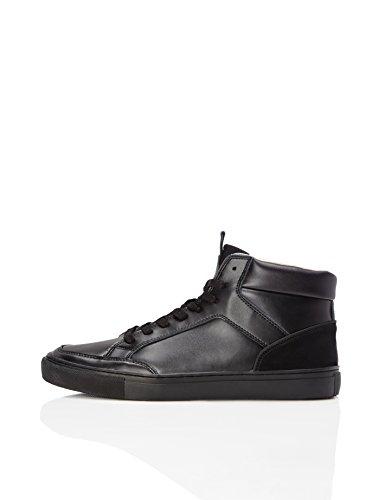 find. Alley Sneaker Herren High Tops mit Retro-Design, Schwarz (Black), 43 EU