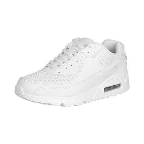 Elara Damen Herren Sneaker Unisex Sport Laufschuhe Turnschuhe Chunkyrayan 0590 White-41