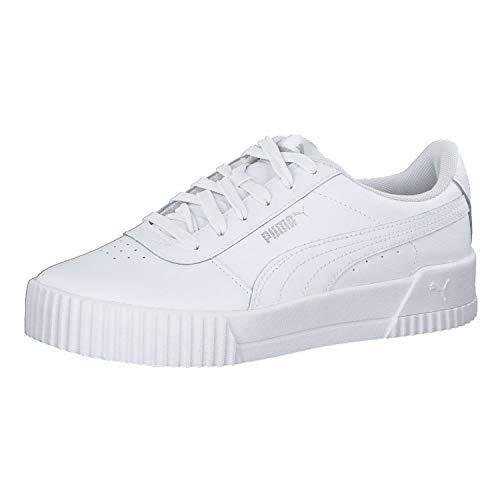 PUMA Damen Carina L Sneaker, WhiteWhite Silver, 39 EU