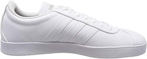 adidas Damen VL Court 2.0 Fitnessschuhe, Weiß (Ftwbla/Ftwbla/Ciberm 000), 38 2/3 EU