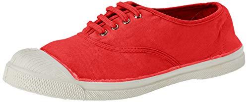 Bensimon Damen Ten Lacet Femme Sneaker, Rot (Rouge 0310), 37 EU