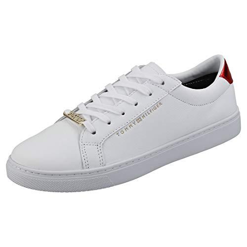 Tommy Hilfiger Damen Essential Sneaker, Weiß (Rwb 020), 37 EU