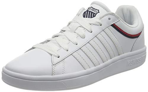 K-Swiss Womens COURT WINSTON Sneaker, WHT/WHT/Corporate/TP