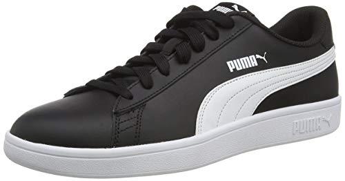 PUMA Unisex Smash V2 L Sneaker, Black White, 43 EU