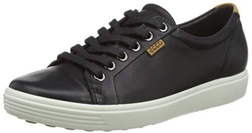 Ecco Damen Soft 7 Sneakers, Schwarz (Black 01001), 37 EU (4.5 UK)