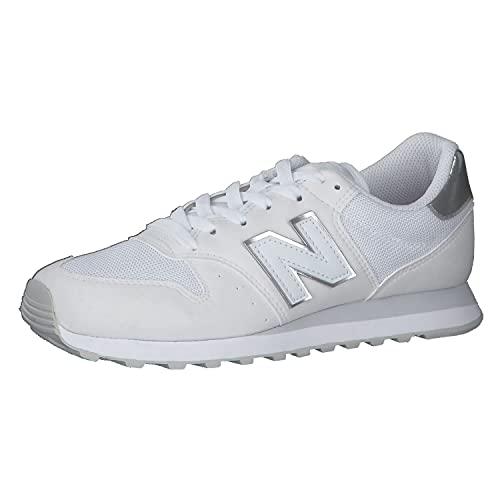 New Balance Damen 500 Core Metallic Pack Sneaker, White, 25 EU