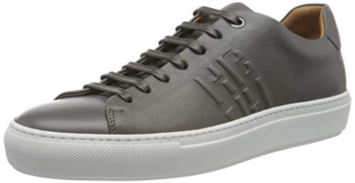 BOSS Herren Mirage_Tenn_lthbpf Sneaker, Dark Grey22, 44 EU, 10 UK
