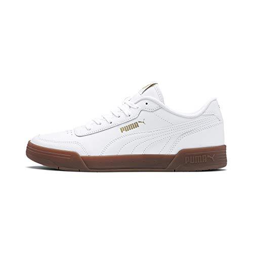 Puma Caracal Sneaker Unisex-Erwachsene, Weiß (Puma White-Puma Team Gold), 44 EU