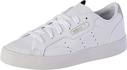 adidas Damen Sleek Sneaker, Weiß (Footwear White/Footwear White/Crystal White 0), 38 EU