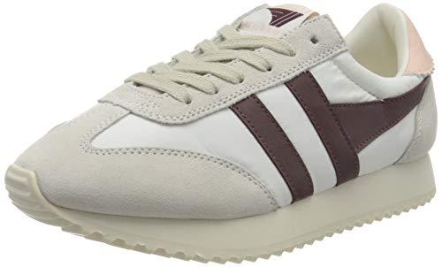 Gola Womens Boston 78 Sneaker, Off White/Burgundy/Pearl Pink, 37 EU