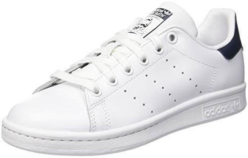 adidas Originals Unisex-Erwachsene Stan Smith Basketballschuhe, Running White/New Navy, 42 2/3 EU