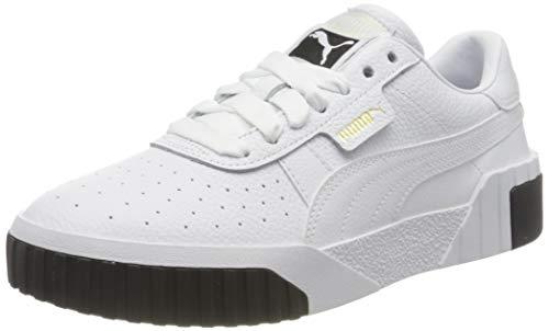 PUMA Damen Cali Wn S Sneaker, White Black, 40 EU