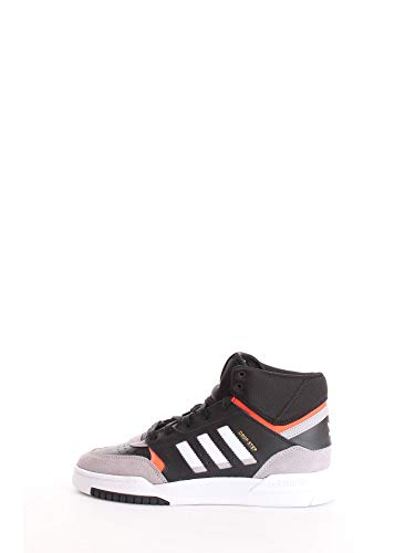 adidas Herren Drop Step Sneaker, Noir Gris Clair Rouge Solaire, 41 1/3 EU