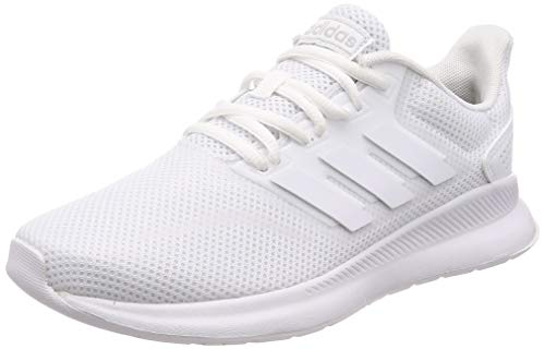 adidas Women's Runfalcon Road Running Shoe, Footwear White/Footwear White/Core Black, (UK -7.5) (EU - 41 1/3)