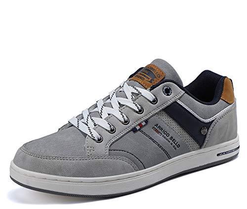 AX BOXING Freizeitschuhe Herren Sneaker Walkingschuhe Mode Schuhe Leichte Sportschuhe Größe 41-46 (N Grau, Numeric_46)