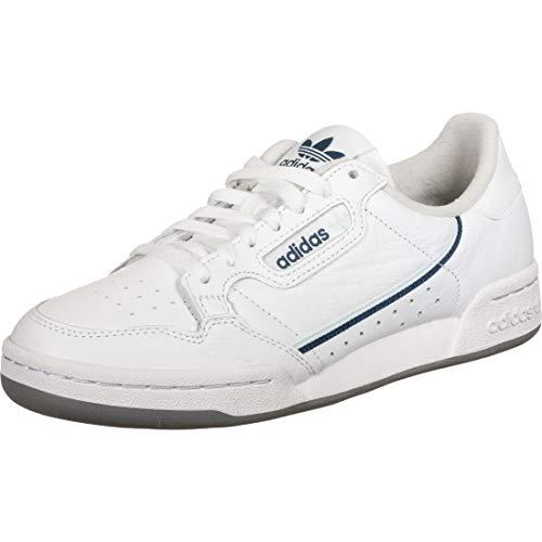 adidas Herren Continental 80 Sneaker, FTWR White/Sky Tint/Legend Marine, 44 2/3 EU