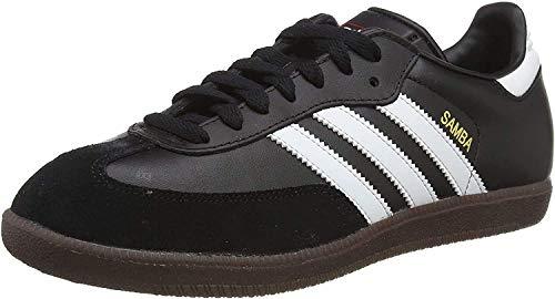 adidas Herren Fußballschuh Samba Low-Top Sneakers, Schwarz (Black/Running White Footwear), 44 EU