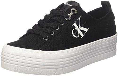 Calvin Klein Jeans Damen ZOLAH Canvas Sneaker, Schwarz (Black/Black R0673Blk), 40 EU