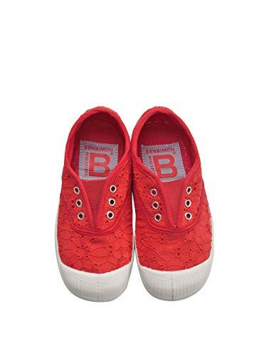 Bensimon Mädchen Tennis Elly Br Anglaise E Sneaker, Rot (Grenadine 494), 33 EU