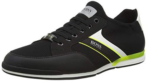 BOSS Herren Saturn_Slon_merb Sneaker, Schwarz (Black 001), 42 EU