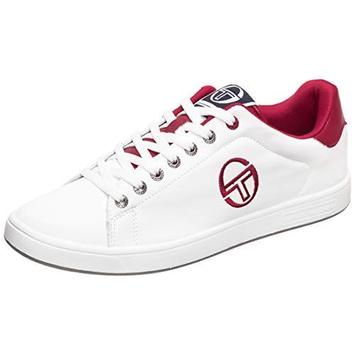Sergio Tacchini Gran Torino LTX Sneaker Herren weiß/rot, 44 EU - 9.5 UK - 10.5 US