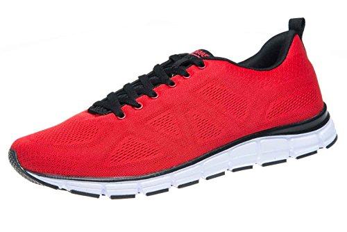 Boras Sneaker in Übergrößen Rot 5203-0077 große Herrenschuhe, Größe:47