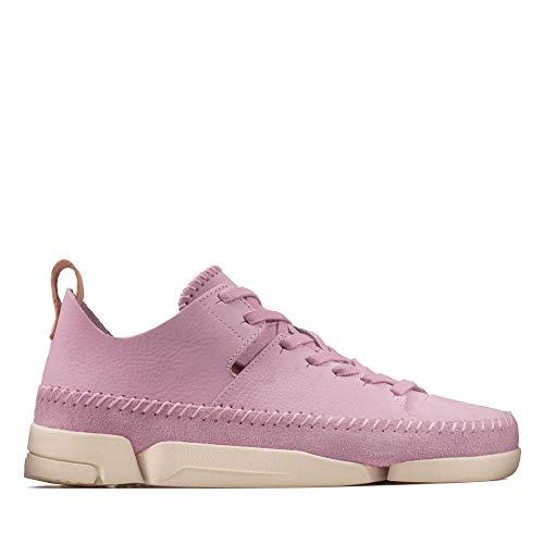 Clarks Damen Trigenic Flex. Sneaker, Beige (Lavender NBK Lavender NBK), 41.5 EU