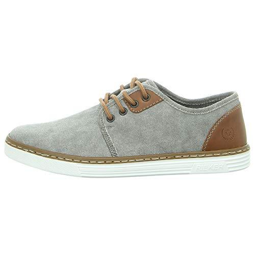 Rieker Herren B4932-41 Sneaker, Grau (Grey/Amaretto 41), 43 EU