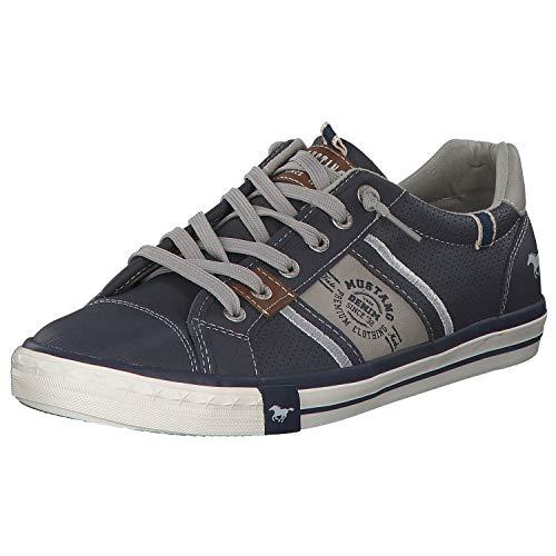 MUSTANG Herren 4072-308-800 Slip On Sneaker, Blau (Dunkelblau 800), 43 EU