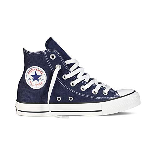 Converse Chuck Taylor All Star High Classic CTAS Hi Unisex Canvas Sneaker mit 7kmh Aufkleber Blau 1503 36.5