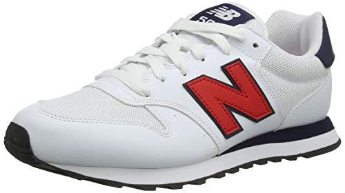 New Balance Herren 500 Varsity Pack Sneaker, Weiß, 46.5 EU