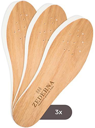 Zederna 3 Paar Zedernsohlen 100% natürliche & antibakterielle Zedernholzsohlen gegen Schweißfüße, Fußgeruch, Fußpilz, Nagelpilz (42)