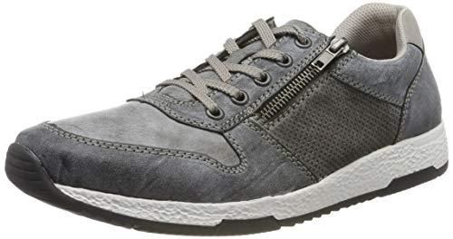 Rieker Herren B9421-46 Sneaker, Grau (Rauch/Asphalt/Staub 46), 45 EU