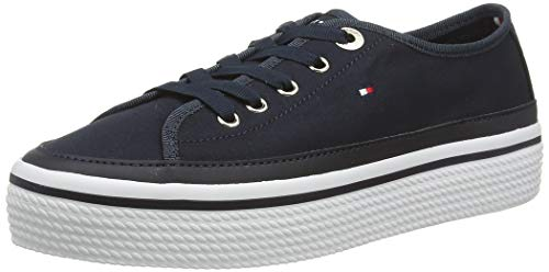 Tommy Hilfiger Damen Corporate Flatform Sneaker, Blau (Midnight 403), 38 EU