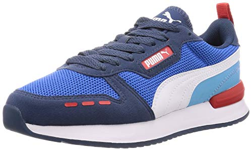 PUMA Unisex R78 Sneaker, Palace Blue-Dark Denim White, 43 EU