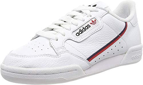 adidas Herren Continental Fitnessschuhe, Weiß (Ftwbla/Escarl/Maruni 000), 43 1/3 EU