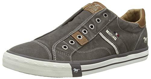 MUSTANG Herren 4072-403-20 Slip On Sneaker, Dunkelgrau, 44 EU
