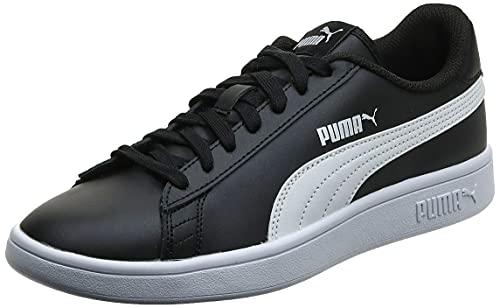 PUMA Unisex Smash v2 L Sneaker, Black White, 46 EU