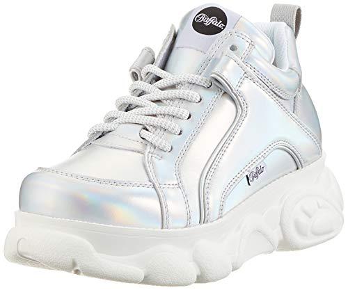 Buffalo Damen Corin Hohe Sneaker, Grau (Silver 000), 39 EU