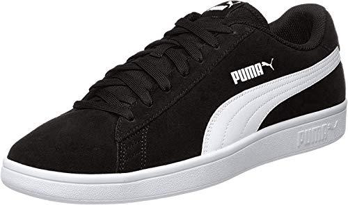 PUMA Unisex-Erwachsene Smash V2 Sneaker, Schwarz (Puma Black-Puma White-Puma Silver), 44 EU